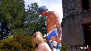 On-demand: outdoor blowjob